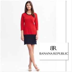 NWT Banana Republic Red Colorblock Dress Small